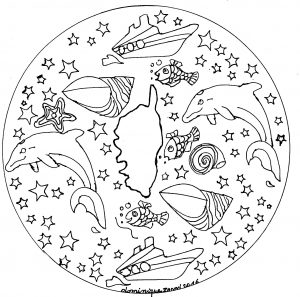 "Mandala ""Corsica"" par Domandala"