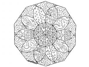 Mandala dessiné à la main