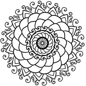 Mandala Anti stress simple