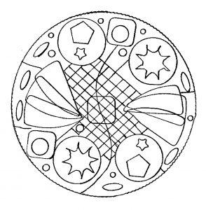 Mandala simple par Domandala