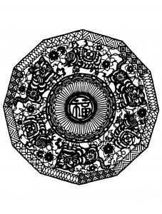 Mandala inspiré par la Chine