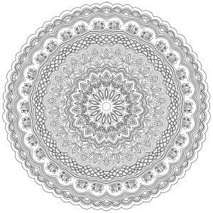 Mandala Anti Stress très détaillé aux lignes fines et élégantes