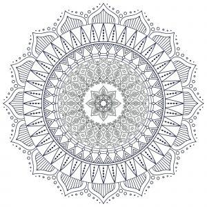 Mandala Zen et complexe