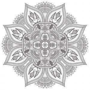 Mandala Anti Stress en forme de fleur