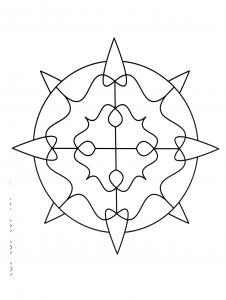 Coloriage Anti Stress Illusion Doptique.Mandala Illusion D Optique Mandalas Zen Anti Stress 100
