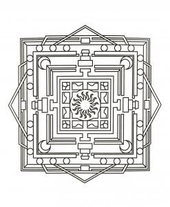 Mandala carré et géométrique
